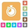 Timer rounded square flat icons - Timer flat icons on rounded square vivid color backgrounds.