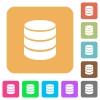 Database symbol rounded square flat icons - Database symbol flat icons on rounded square vivid color backgrounds.
