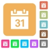 Calendar rounded square flat icons - Calendar flat icons on rounded square vivid color backgrounds.