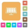 Solar panel rounded square flat icons - Solar panel flat icons on rounded square vivid color backgrounds.