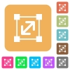 Resize element rounded square flat icons - Resize element flat icons on rounded square vivid color backgrounds.
