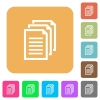 Documents rounded square flat icons - Documents flat icons on rounded square vivid color backgrounds.