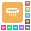 Air conditioner rounded square flat icons - Air conditioner flat icons on rounded square vivid color backgrounds.