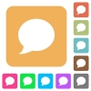 Blog comment bubble rounded square flat icons - Blog comment bubble flat icons on rounded square vivid color backgrounds.