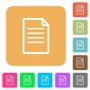 Document rounded square flat icons - Document flat icons on rounded square vivid color backgrounds.