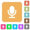 Microphone rounded square flat icons - Microphone flat icons on rounded square vivid color backgrounds.