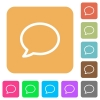 Comment bubble rounded square flat icons - Comment bubble flat icons on rounded square vivid color backgrounds.