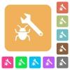 Bug fixing rounded square flat icons - Bug fixing flat icons on rounded square vivid color backgrounds.