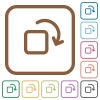 Rotate element simple icons - Rotate element simple icons in color rounded square frames on white background