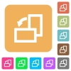 Rotate left rounded square flat icons - Rotate left flat icons on rounded square vivid color backgrounds.