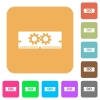 Memory optimization rounded square flat icons - Memory optimization flat icons on rounded square vivid color backgrounds.