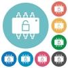 Hardware unlocked flat round icons - Hardware unlocked flat white icons on round color backgrounds