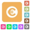 Euro sticker rounded square flat icons - Euro sticker flat icons on rounded square vivid color backgrounds.