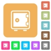 Strong box rounded square flat icons - Strong box flat icons on rounded square vivid color backgrounds.