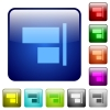 Align to right color square buttons - Align to right icons in rounded square color glossy button set