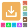 Download rounded square flat icons - Download flat icons on rounded square vivid color backgrounds.