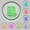 Database lock push buttons - Database lock color icons on sunk push buttons