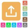 Upload rounded square flat icons - Upload flat icons on rounded square vivid color backgrounds.