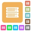 Rack servers rounded square flat icons - Rack servers flat icons on rounded square vivid color backgrounds.