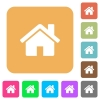 Home rounded square flat icons - Home flat icons on rounded square vivid color backgrounds.
