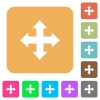 Move tool rounded square flat icons - Move tool flat icons on rounded square vivid color backgrounds.