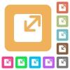 Resize window rounded square flat icons - Resize window flat icons on rounded square vivid color backgrounds.