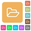 Open folder rounded square flat icons - Open folder flat icons on rounded square vivid color backgrounds.
