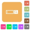 Search box rounded square flat icons - Search box flat icons on rounded square vivid color backgrounds.