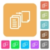 Move file rounded square flat icons - Move file flat icons on rounded square vivid color backgrounds.