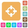 Target rounded square flat icons - Target flat icons on rounded square vivid color backgrounds.
