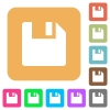Save data rounded square flat icons - Save data flat icons on rounded square vivid color backgrounds.