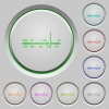 Radio tuner push buttons - Radio tuner color icons on sunk push buttons