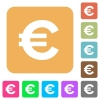 Euro sign rounded square flat icons - Euro sign flat icons on rounded square vivid color backgrounds.