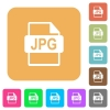 JPG file format rounded square flat icons - JPG file format flat icons on rounded square vivid color backgrounds.