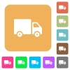 Delivery truck rounded square flat icons - Delivery truck flat icons on rounded square vivid color backgrounds.