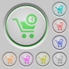 Instant purchase push buttons - Instant purchase color icons on sunk push buttons