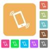 Ringing phone rounded square flat icons - Ringing phone flat icons on rounded square vivid color backgrounds.