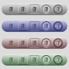 Ink cartridge icons on menu bars - Ink cartridge icons on rounded horizontal menu bars in different colors and button styles