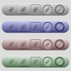 Attachment icons on rounded horizontal menu bars in different colors and button styles - Attachment icons on menu bars