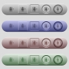 Elevator icons on menu bars - Elevator icons on rounded horizontal menu bars in different colors and button styles