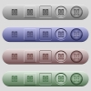 Speakers icons on menu bars - Speakers icons on rounded horizontal menu bars in different colors and button styles