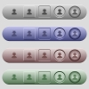 Operator icons on menu bars - Operator icons on rounded horizontal menu bars in different colors and button styles