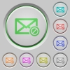 Blocked mail push buttons - Blocked mail color icons on sunk push buttons