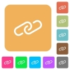 Paperclip rounded square flat icons - Paperclip flat icons on rounded square vivid color backgrounds.