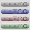 Trash icons on menu bars - Trash icons on rounded horizontal menu bars in different colors and button styles