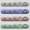 Data backup icons on menu bars - Data backup icons on rounded horizontal menu bars in different colors and button styles