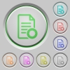Document certificate color icons on sunk push buttons - Document certificate push buttons