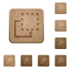 Bring element to front wooden buttons - Bring element to front on rounded square carved wooden button styles
