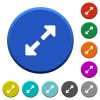 Resize full beveled buttons - Resize full round color beveled buttons with smooth surfaces and flat white icons