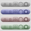 Speedometer icons on rounded horizontal menu bars in different colors and button styles - Speedometer icons on menu bars